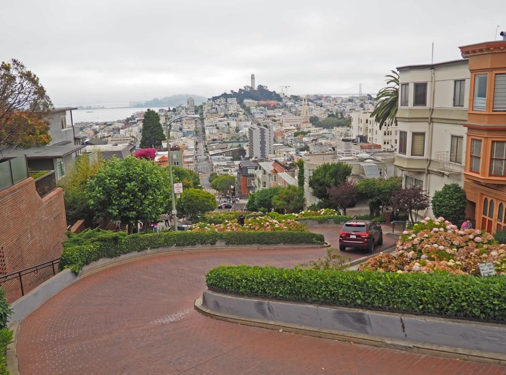 Lombard Street Vista desde lo alto