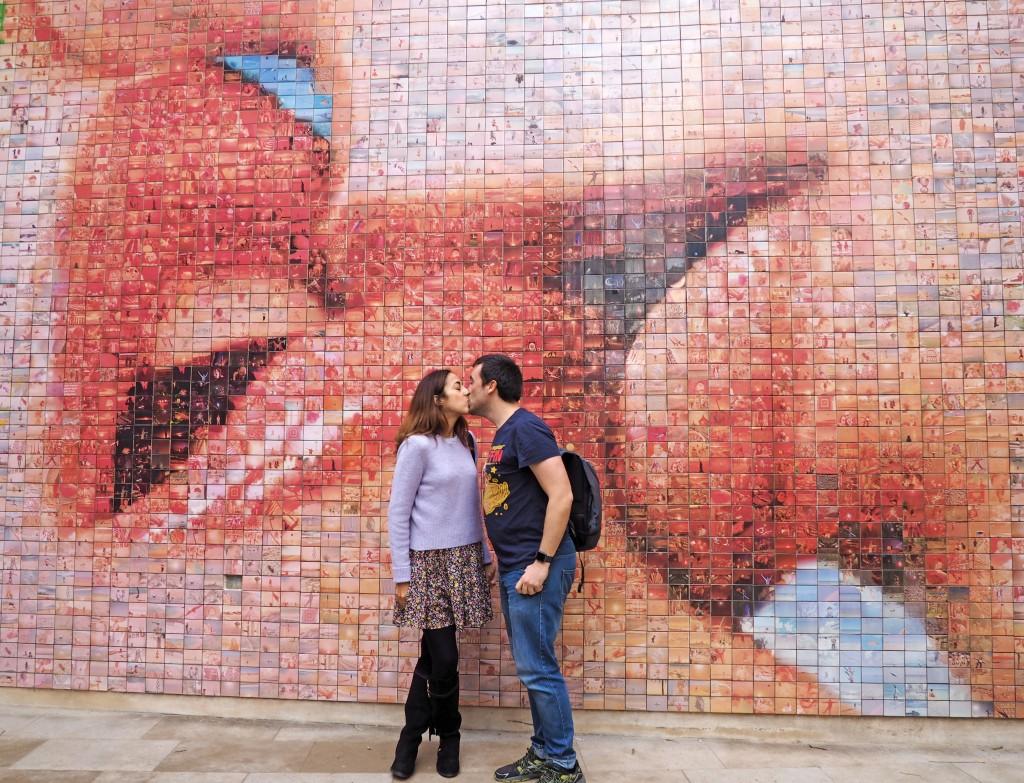 Mural de El Beso