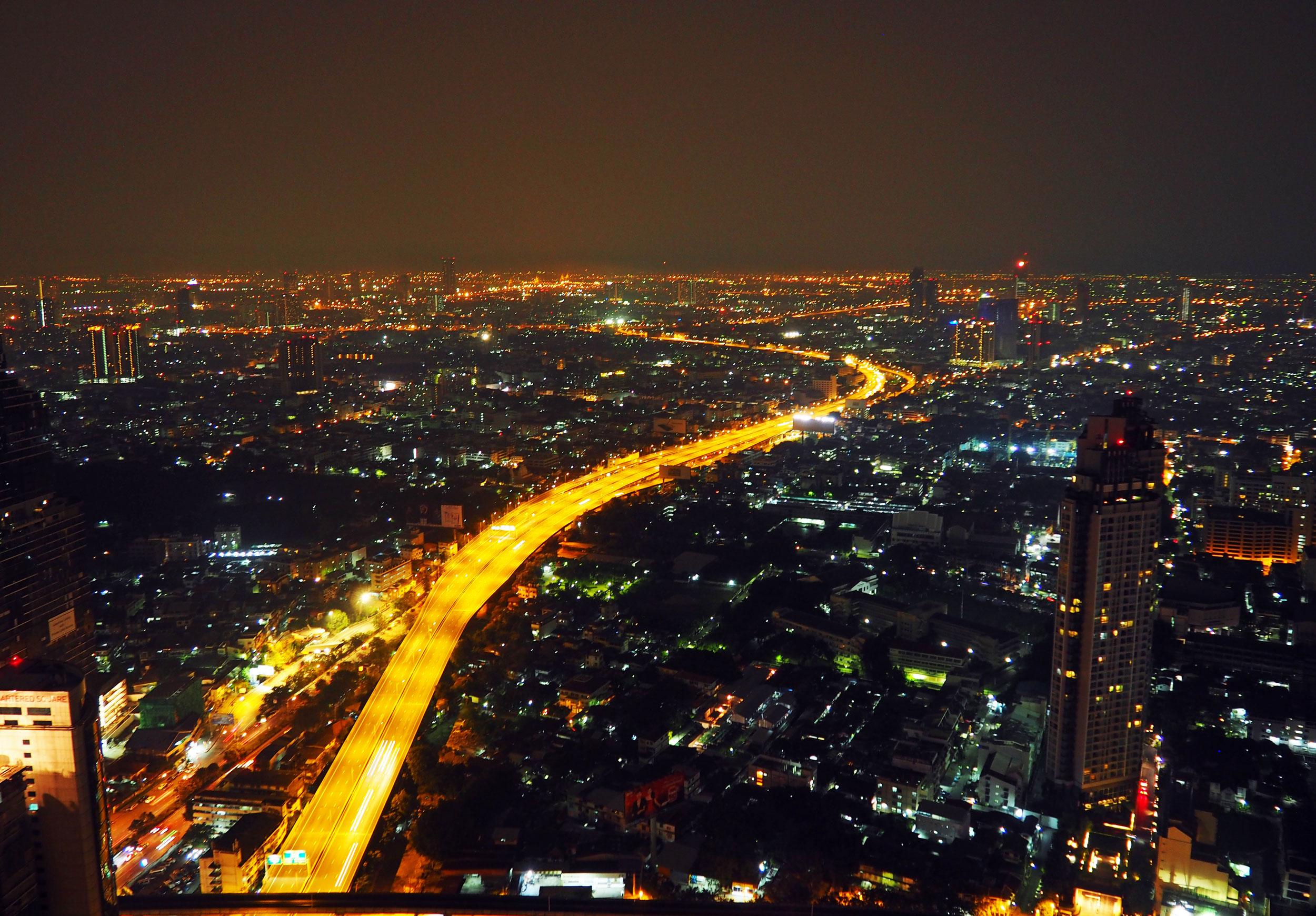 Vistas desde la azotea del hotel Lebua en Bangkok